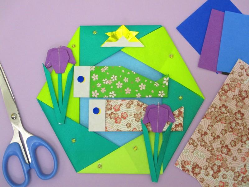 静岡呉服町教室 折り紙リース作りとリトミック