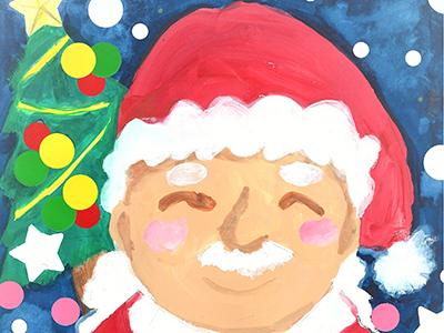 サンタさんの手形アート